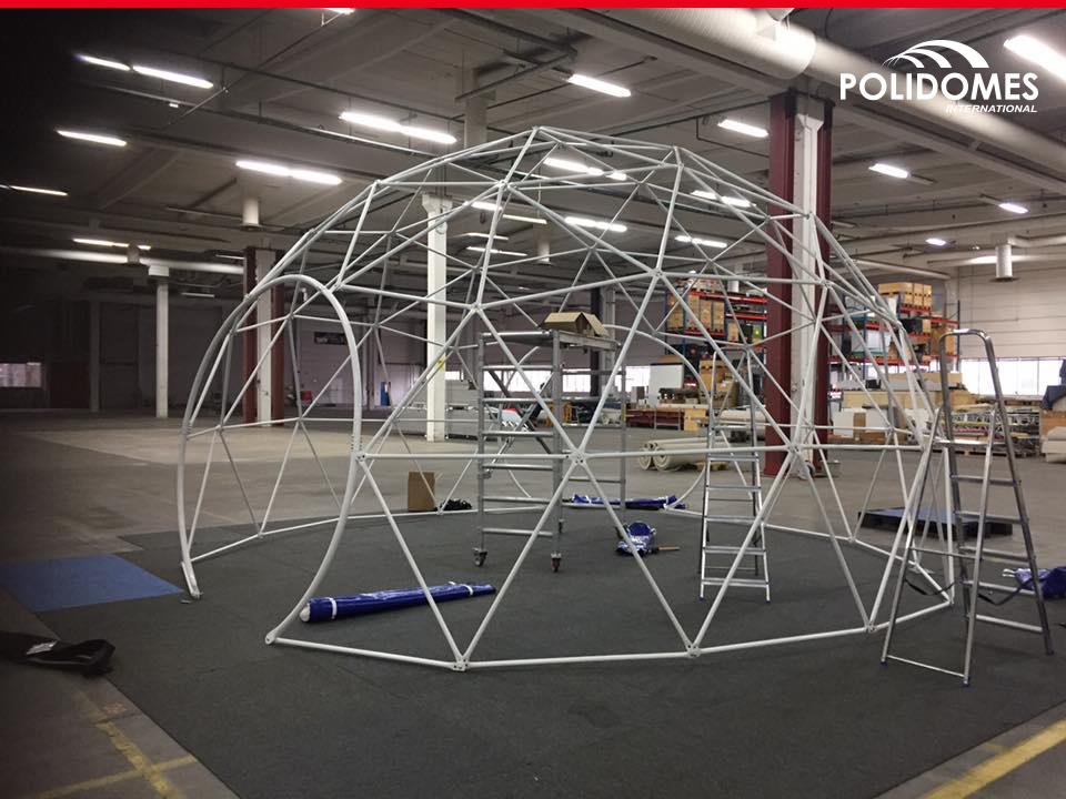 Polidome namiot sferyczny konstrukcja producent