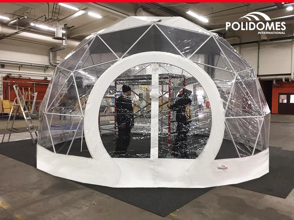 Polidome namiot sferyczny przezroczysty