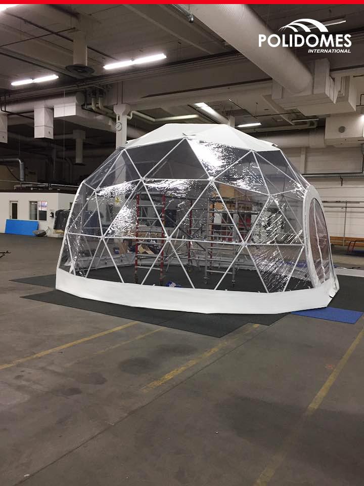 Polidome namiot sferyczny w Szwecji