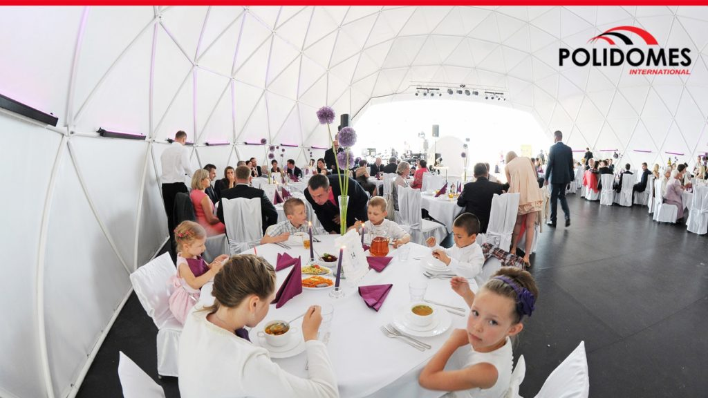 wedding tent from inside