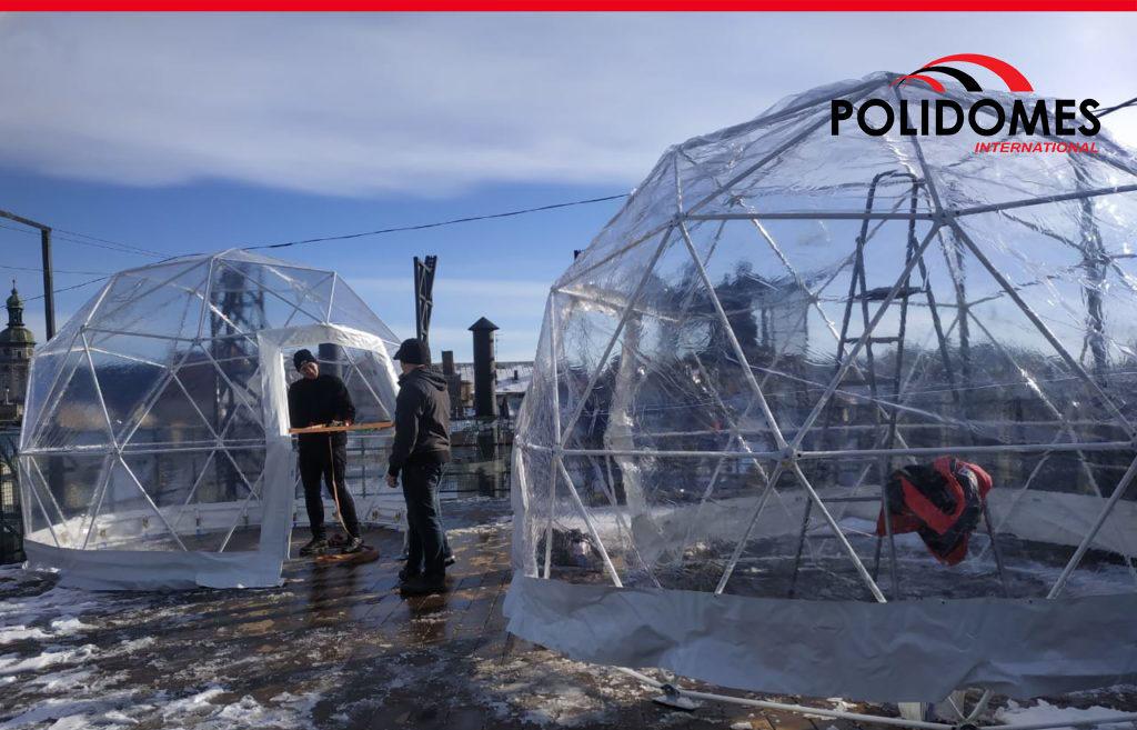 rooftop igloo geo domes