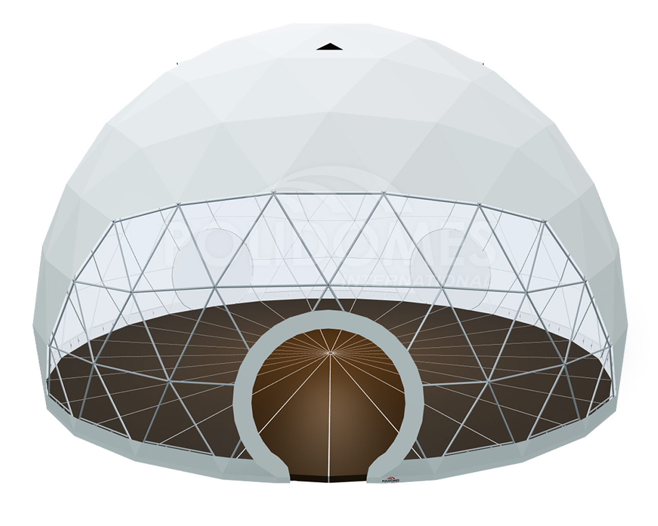 large corporate dome tent