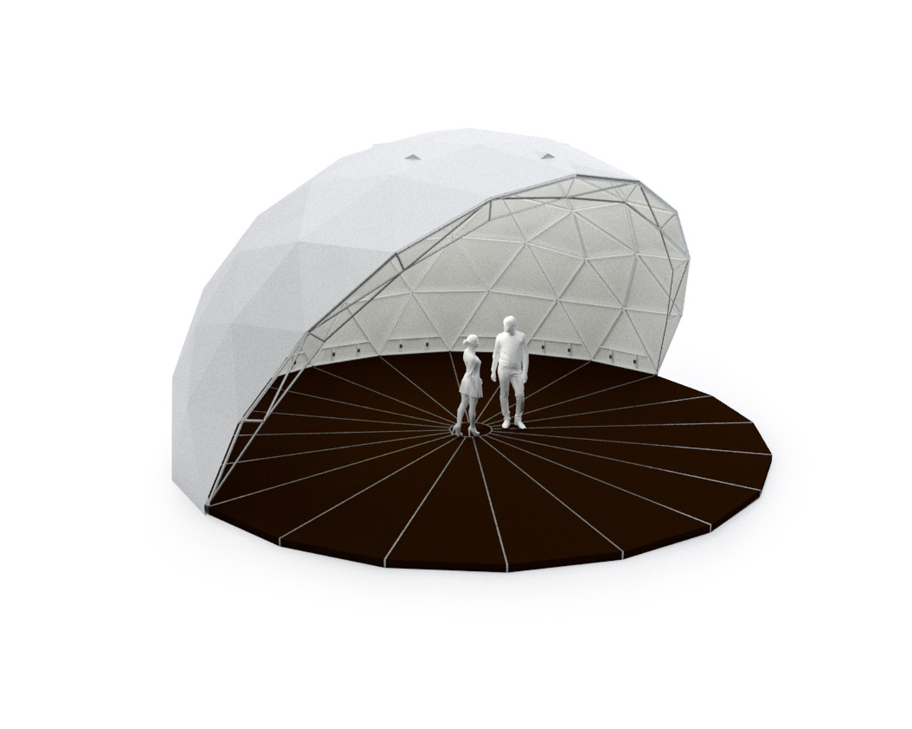 outdoor event half dome tent 75m