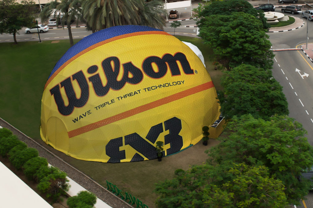 Wilson Dome Tent Fiba Wave Triple Threat technology 3x3