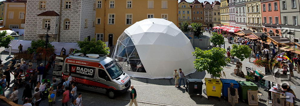 transparent geodesic dome