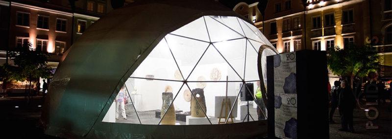 exposition transparent dome tent