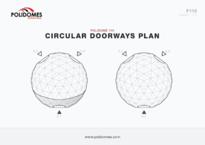 Polidomes geodesic dome circular doorways plan p110