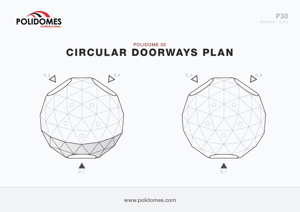 Polidomes dome circular doorways plan p30