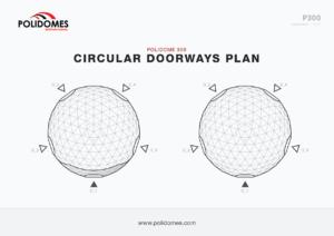 Polidomes event dome circular doorways plan p300