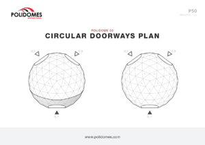 Polidomes dome circular doorways plan p50