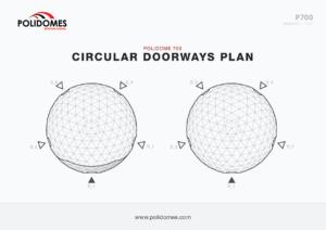 Polidomes Sphere marquee tent circular doorways plan p700