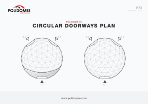 Polidomes dome tent circular doorways plan p75