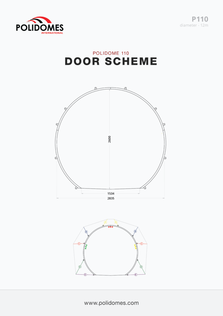 Polidomes dome tent doors scheme p110