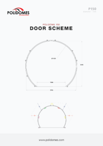 Polidomes geodesic dome tent door scheme p150