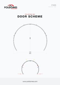 Polidomes geodesic tent door scheme p300