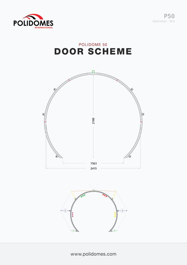 Polidomes tents door scheme p50