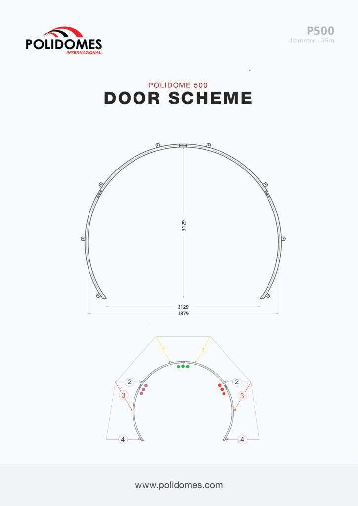 Polidomes dome door scheme p500