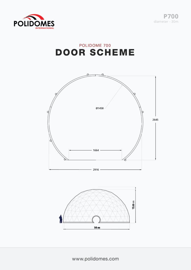 Polidomes dome tent door scheme p700