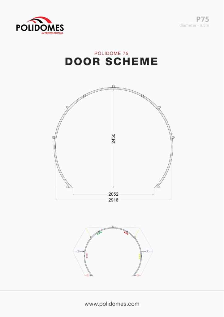 Polidomes tents doors p75