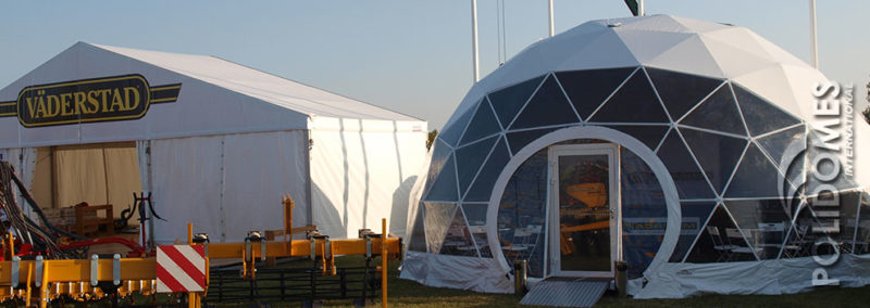 Agro show exposition dome tent
