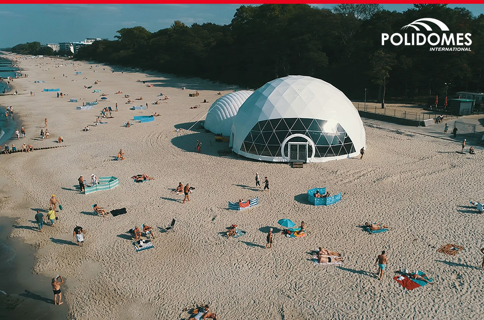 Polidomes_wedding_tent on the beach
