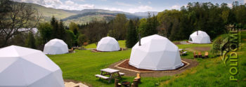 geodesic dome can be used as unqiue glamping solution