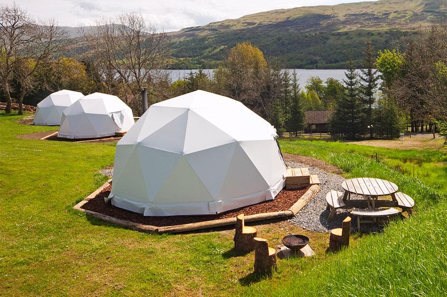Loch Tay Geodesic glamping pods