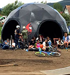 Burn geodesic dome tent
