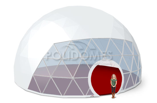 transparent geo dome tent