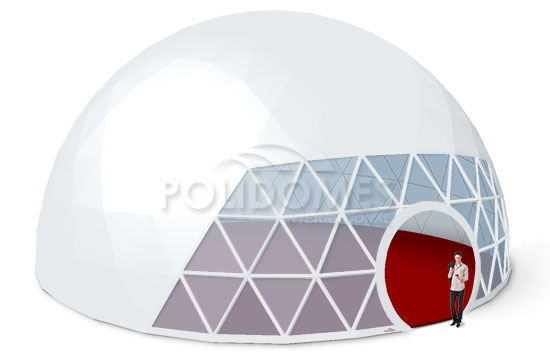 transparent geodesic dome tent