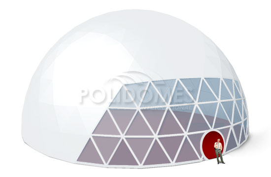 biggest transparent geodesic dome tent