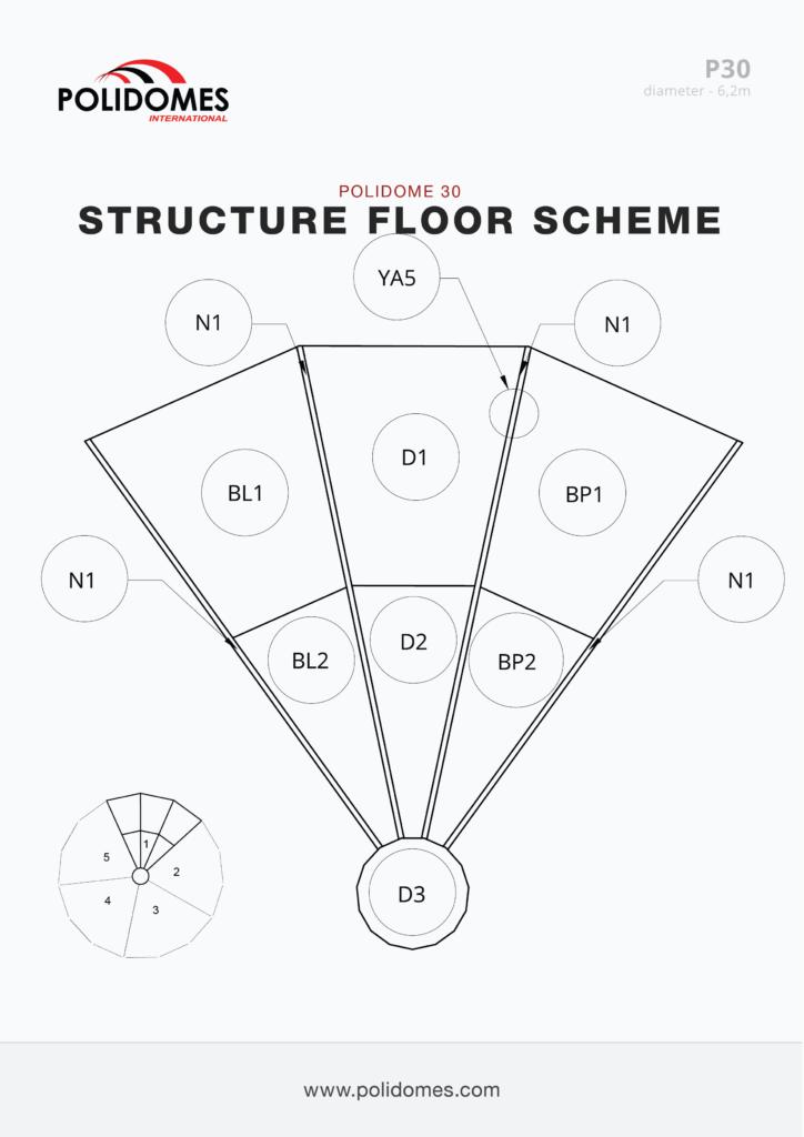 Polidomes event shelter floor scheme p30