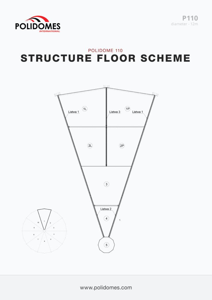 Polidomes geodesic dome floor scheme p110