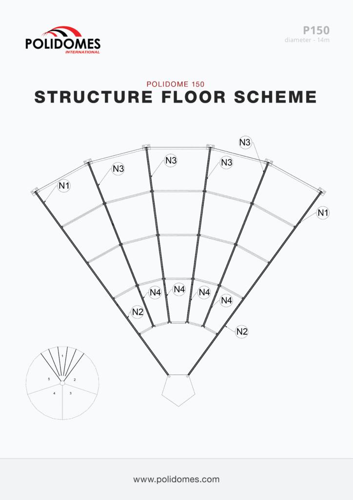 Polidomes event shelter floor scheme p150