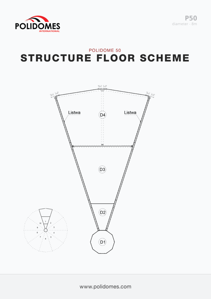 Polidomes event shelter floor scheme p50