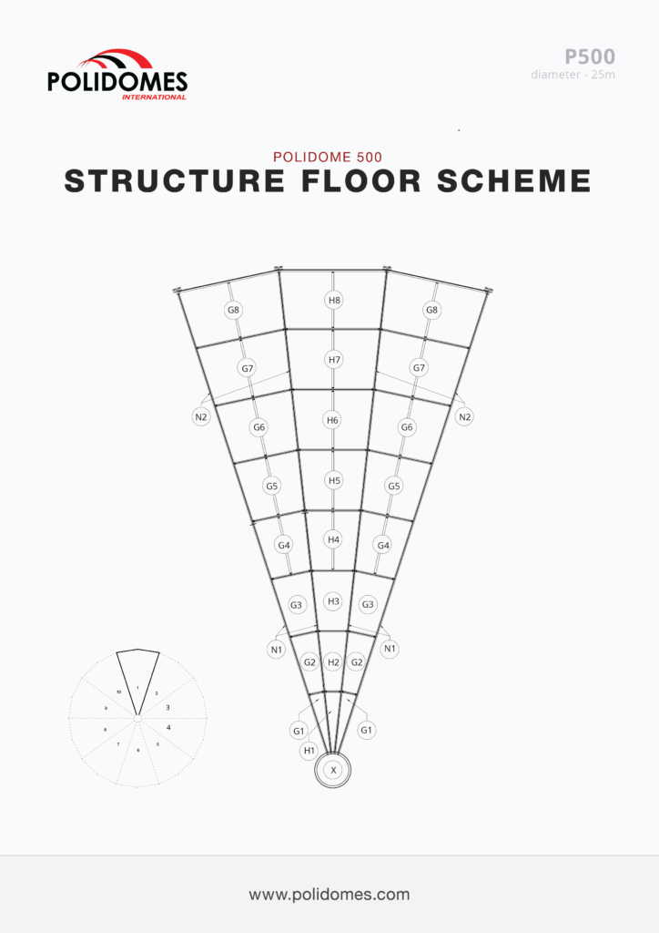 Polidomes dome floor structure p500