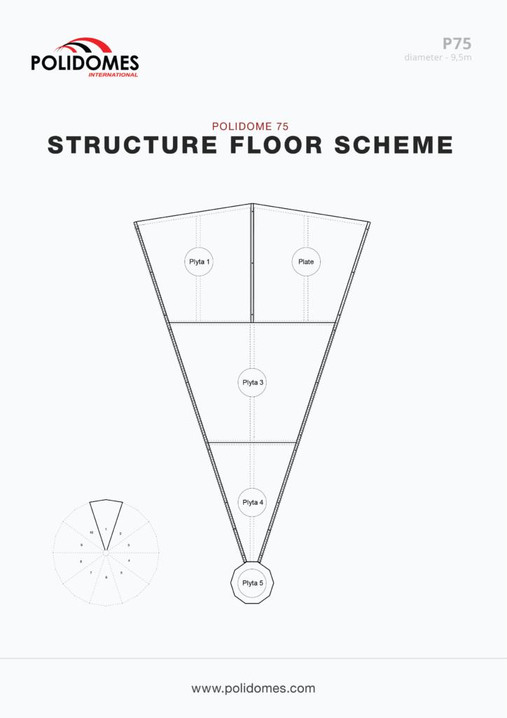 Polidomes event dome tent floor scheme p75