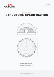 festival dome tent structure specification p300