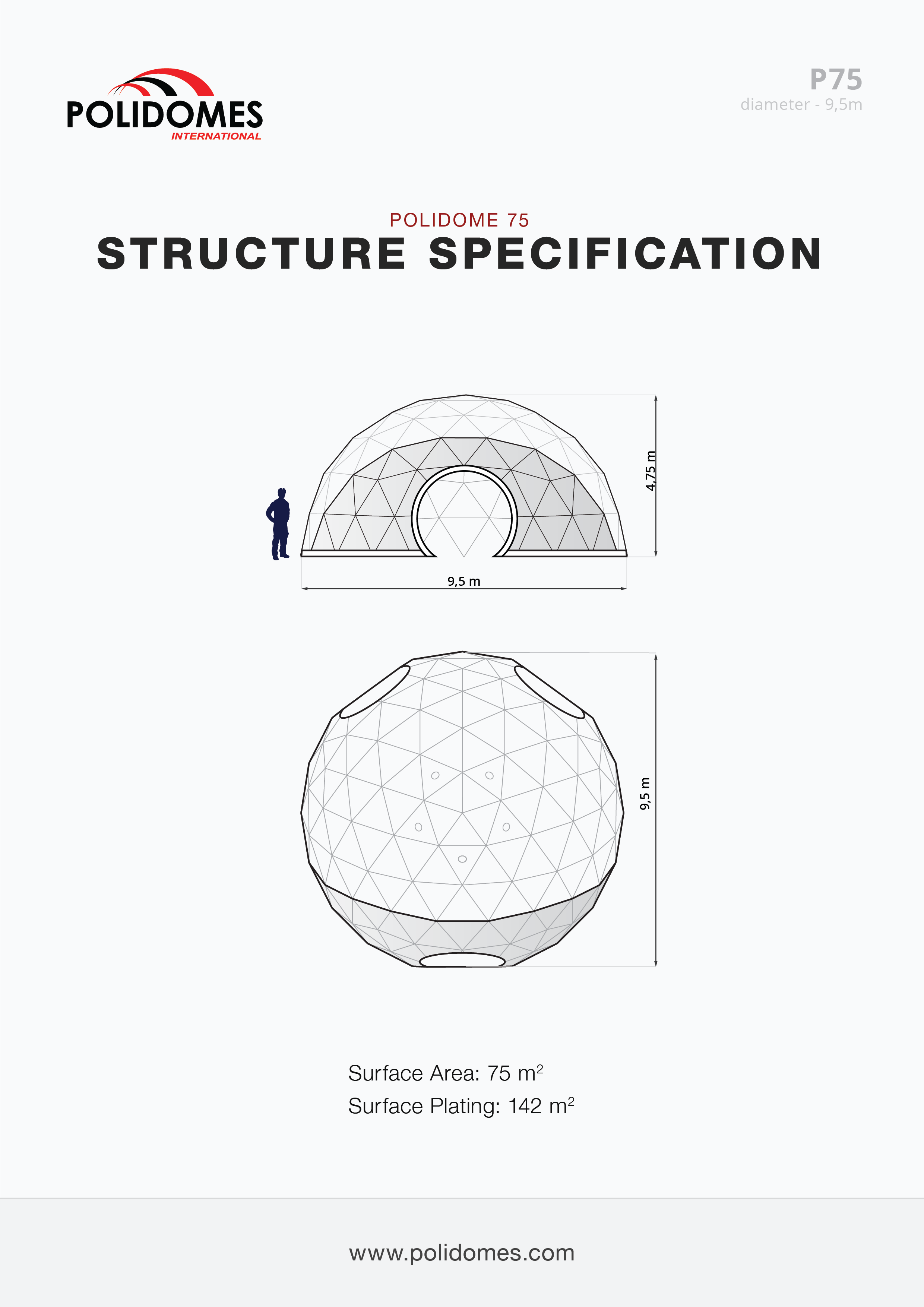 dome tent manufacturer structure specification p75