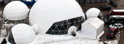 geodesic dome tent construction